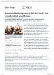 A 090320 TAGES-ANZEIGER Kommunkationsproblem Stadt Zürich   1 von 2